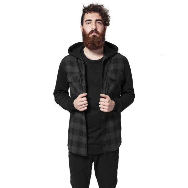 Urban Classics Hooded Flanell Shirt 1